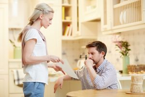 couples discussing about selling property